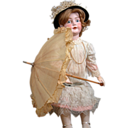 "SALE Very Sweet Edwardian C. 1915 Parasol For Large 38-43"" Dolls With Wooden Bauble ..."