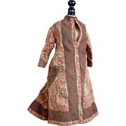 SALE Rare Robe A l'Orientale Antique French Fashion Doll Dress for Exhibition C. 1885