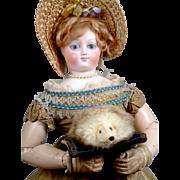 Silk and Silver Fox Antique French Fashion Doll Purse~Bijoux Stash~Perfect for Jumeau, Bru or