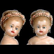"SALE Singular 19"" SWIVEL HEAD German Reinforced Wax Fashion Lady C. 1840 In Excellent Con"