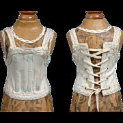 SALE Museum Worthy Original Size 7 Cream & Silk Embroidered Bebe Jumeau Corset
