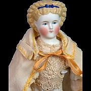 Fabulous Huret Era c.1850 Antique Cream Wool Cape for Fashion or China Doll w ...