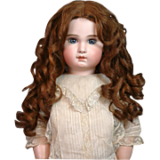 SOLD Dreamy Hand Tied Antique Human Hair Wig with Original Set Ringlets for French or German D