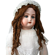 SOLD Gorgeous Tightly-Curled Antique Human Hair Doll Wig in Rich Auburn With Original Pate