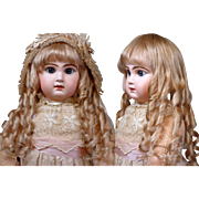SOLD Size 12 Antique Human Hair Doll Wig For French Bebe or German Closed Mouth Doll (Up to 13
