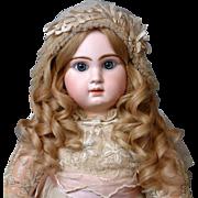 SOLD Stunning Honey Blond Long Human Hair Wig C. 1890