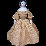 "SALE Outstanding Petite Lady Antique Germany China Lady 11"" Fabulous Original Costume & B"