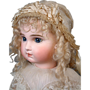 Fabulous French Silk Bebe Bonnet C. 1895~Delicate Embroidery~Frothy Trim