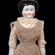 "SALE 20.5"" China Lady In Superb Original Maid's Costume C.1875"