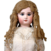 SOLD Size 13-14 Antique Human Hair Doll wig For French or German Doll