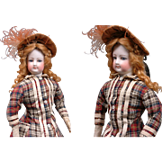 "Perfect 15.5"" Jumeau French Fashion Poupee Doll With Original Dress Plus Antique Winter Ensemble"