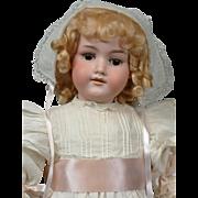 "Gorgeous 23"" Armand Marseille 390 N Antique Bisque Girl in Antique Costume"