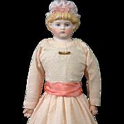 """LARGE Pouty 18"""" Alt Beck & Gottschalk Bonnet Head Tinted Bisque Lady"""