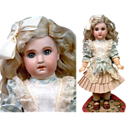 """EARLY Petite 16"""" 1907 Stamped Tete Jumeau Bebe Size 6 ~Diplome d'Honeur~"""