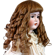 "Incredible Victorian Human Hair Hand Tied Wig For 35-45"" Doll (Head Circ 17-22 ..."