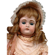 "Perfect 14.5"" Kestner 167 Bisque Doll In Silk Costume"