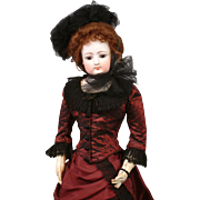 """Outstanding 25"""" Francois Gaultier French Fashion Poupee Doll 'Mlle Lucy' In Silk Gown"""