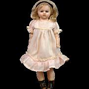 "RARE Wax Legs Wax Doll 15"" in Original Antique Costume"