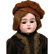 "Lovely 20"" Cuno Otto Dressel Antique Boy w/Big Original Set Eyes in Velvet Costume ..."