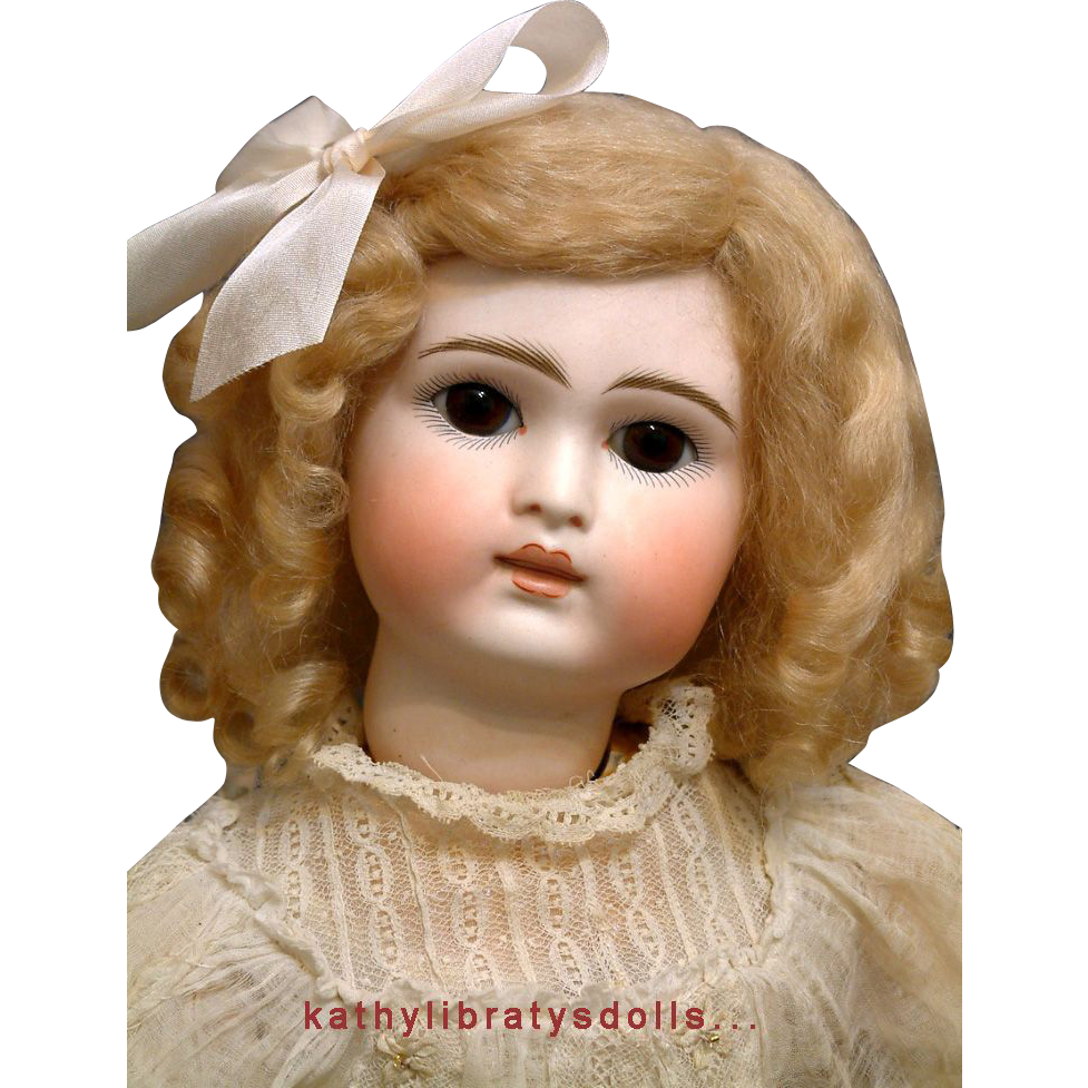 "Marvelously PERFECT 18"" Belton All Antique (Except Wig) German Child Doll RESEMBLES STEINER!"