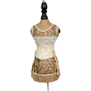 SALE Gorgeous Contoured Overbust Corset For French Bebe Bru Jumeau FG Fashion Doll- Defined ..