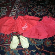 SALE Vintage Original Mattel Chatty Baby Red Jumpers & Shoe Lot!