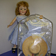Vintage Original Richwood Cindy Lou Dress & Straw Hat with Garment Bag!