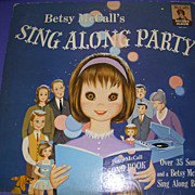 "Vintage 1963 Rare Betsy McCall ""Sing Along Party"" Record Album!"