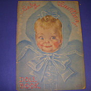"""1930s Uncut Lowe Paper Doll Book """" Baby Bunting Doll Book""""!"""