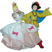 SALE Vintage German BAPS Dolls of Cinderella and Prince Charming Set