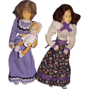 Vintage Trio of Erna Meyer German Dollhouse Dolls!