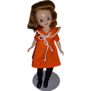 "Vintage 1950s 8"" Betsy McCall Doll in ""At The Zoo"" Outfit!"
