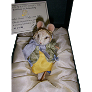 "SALE MIB R. John Wright ""Daffy Down Dilly"" Mouse from the Mother Goose Series!"