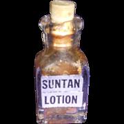 Vintage Mini Cutex Suntan Lotion Bottle!