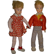 Vintage Pair of Erna Meyer German Dollhouse Dolls!