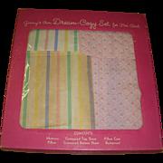 Vintage Vogue 1950s Ginny Bedding Set in Original Box!