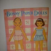 """Vintage """"Bonny Paper Dolls"""" Uncut Paper Doll Set !"""
