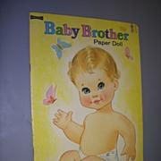"Vintage ""Baby Brother"" Uncut Paper Doll Set !"