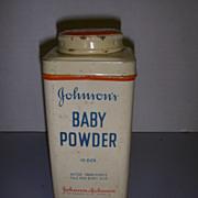 Vintage Johnson's Baby Powder Tin!