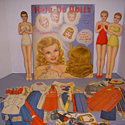 "1948 Vintage Queen Holden ""Hair Do Dolls"" Paper Doll Set !"