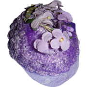 SALE PENDING Vintage 1950s Alexander Cissette Lavender Straw Hat!