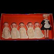 "Vintage All-Bisque ""Quints with Nurse"" Dolls MIB!"