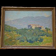 1920s-30s FERDINAND KAUFMANN, Listed California Artist, Oil Painting, Pasadena