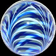 Vintage Hand Blown Glass Paperweight, MARIGOLD GLASSWARE, Durango, Colorado