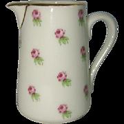 Charming Dainty Vintage Porcelain PITCHER or CREAMER, Pink Roses, A J CO. FRANCE