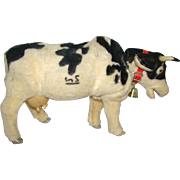 Adorable Large Vintage JOSIE WALKING COW, Battery Operated Toy, Rosko, Japan