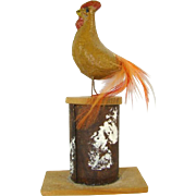 1920s Vintage Composition Rooster Easter CANDY CONTAINER, Germany