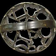 Large Antique FOLK ART Tin ROUND COOKIE 10-Cutter MOLD