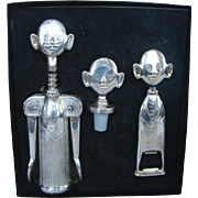Vintage PIERRE THE SOMMELIER 3-Piece Corkscrew Bottle Opener, LANDES w/Box