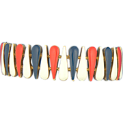 Red White & Blue Teardrop Bracelet